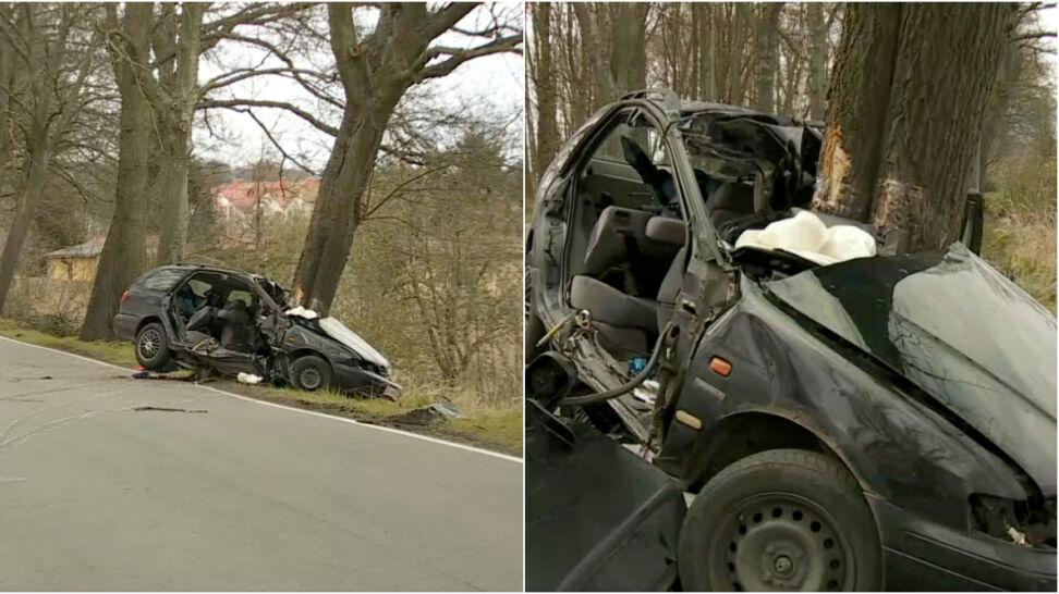 e8a60dff75b85 Na miejscu wypadku zginął pasażer siedzący obok kierowcy. Kolejne cztery  osoby zostały odwiezione do szpitali. Wśród poszkodowanych jest dziecko.