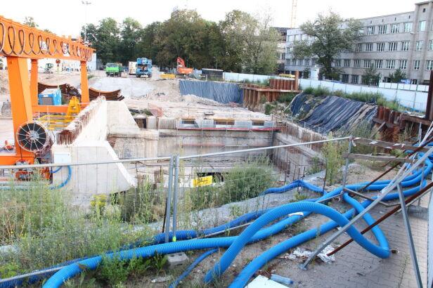 Teren budowy stacji metra Powiśle fot. Lech Marcinczak/tvnwarszawa.pl