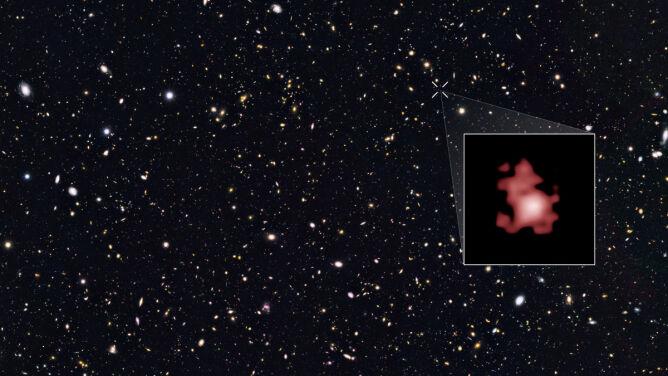 Nowy kosmiczny rekord. Sfotografowano najbardziej oddaloną od Ziemi galaktykę