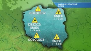Warunki drogowe we wtorek 19.01