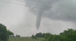 Jedno z tornad w Teksasie