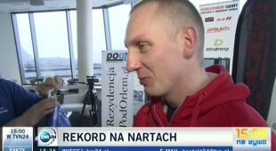 Jędrzej dobrowolski trenuje przed próbą bicia rekordu szybkości w Tatrach (TVN24)